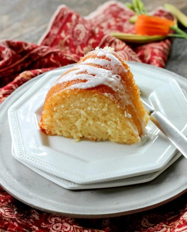 Lemon Glazed Ricotta Cake