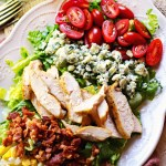 Cobb Salad with Creamy Avocado Dressing is a delicious salad perfect for anytime of the year but especially good as a dinner salad during the heat of the summer.