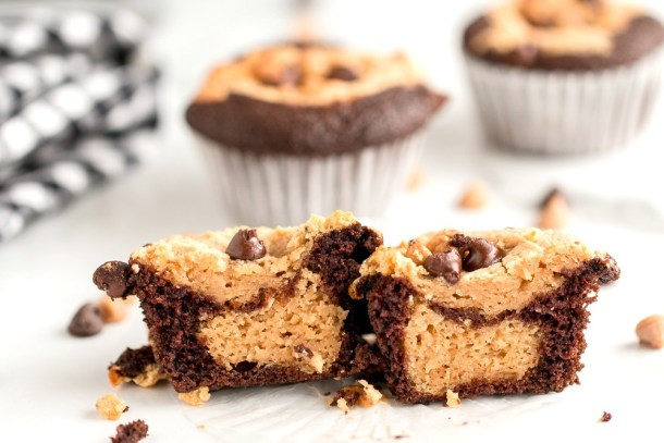 Chocolate Peanut Butter Cupcakes