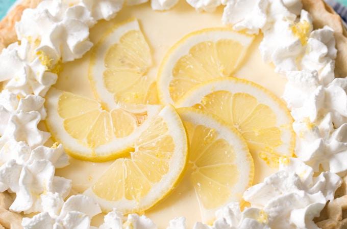 Creamy Sour Cream Lemon Pie