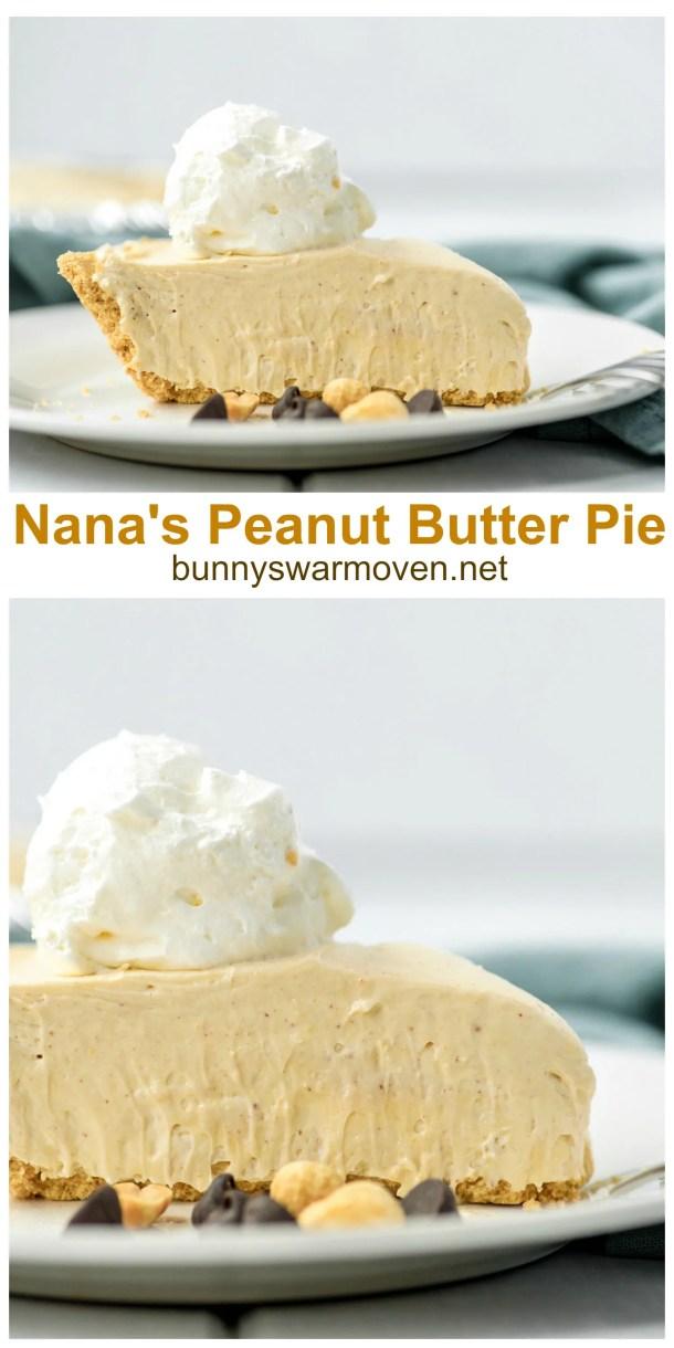 Nana's Peanut Butter Pie