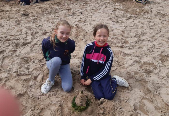 Third classes enjoy a trip to the beach