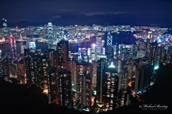 Skyline, Sky Terrace, Peak Tower, 128 Peak Rd, The Peak, Hong Kong.