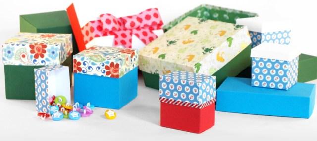 Schachteln aus Tonkarton selber basteln