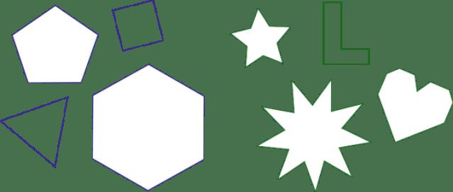 Polygone: konvex und konkav