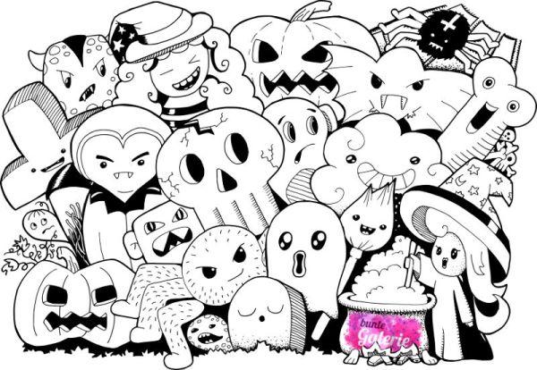 Halloween Doodle Monster