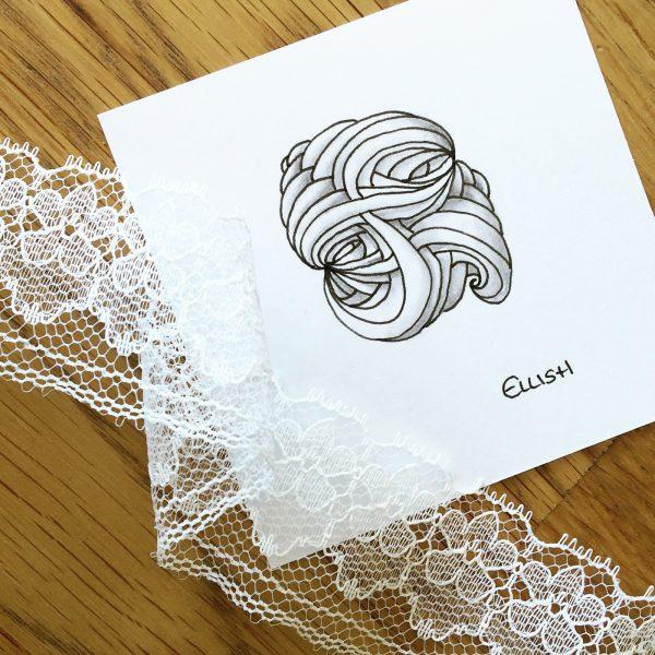 Ellish inspiriertes Zentangle® Muster