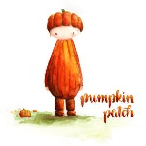Hand-Lettering Pumpkin Patch - Kürbisfeld