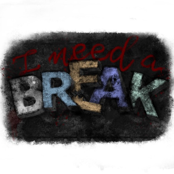 I need a break | iPad Lettering by Bunte Galerie