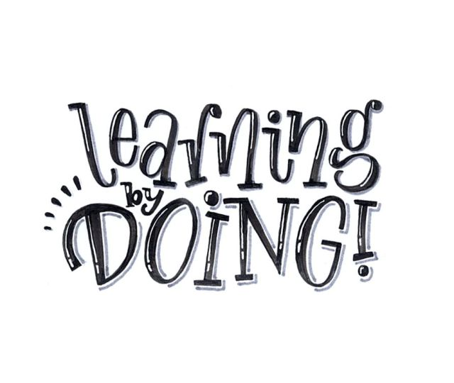 learning by doing - hand lettering von Ludmila Blum, Bunte Galerie