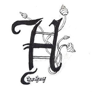 Tangle-Monogramm H - Hannelore (hahey)
