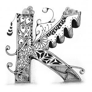 Tangle Monogramm K - Karin