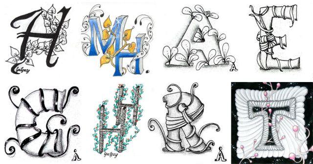 Galerie der Tangle Monogramme