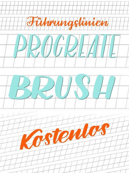 Procreate Brush Führungslinien schräg