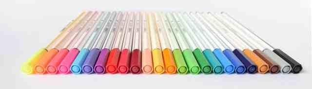 Alle 24 Farben der Stabilo 68 Brushpens - Ludmila Blum | Bunte Galerie