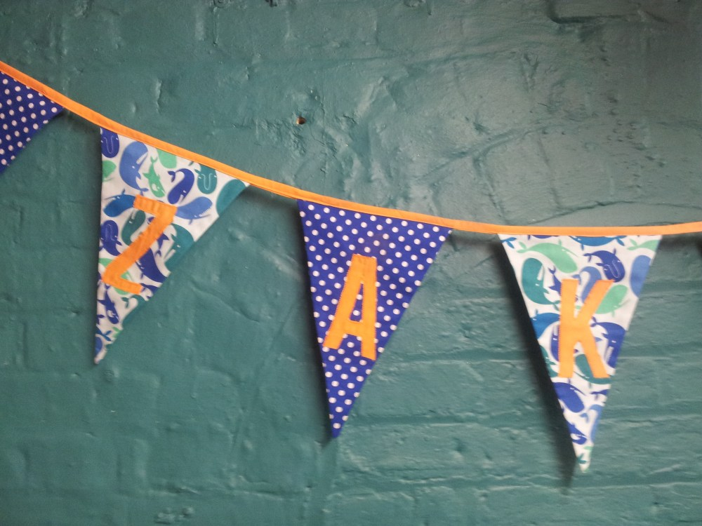 Zak and Link Personalised Bunting (1/6)