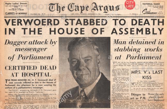 verwoerd morto apartheid
