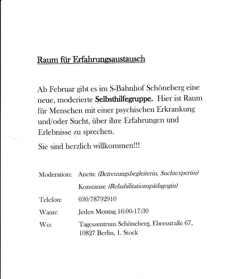BS Info - Raum-für-Erfahrungsaustausch 20160407 ©Pinel