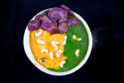 Süßkartoffel-Spinat Suppe