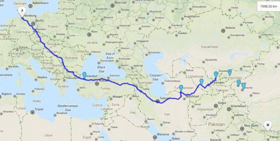Auf dem Landweg: Deutschland bis Nepal*