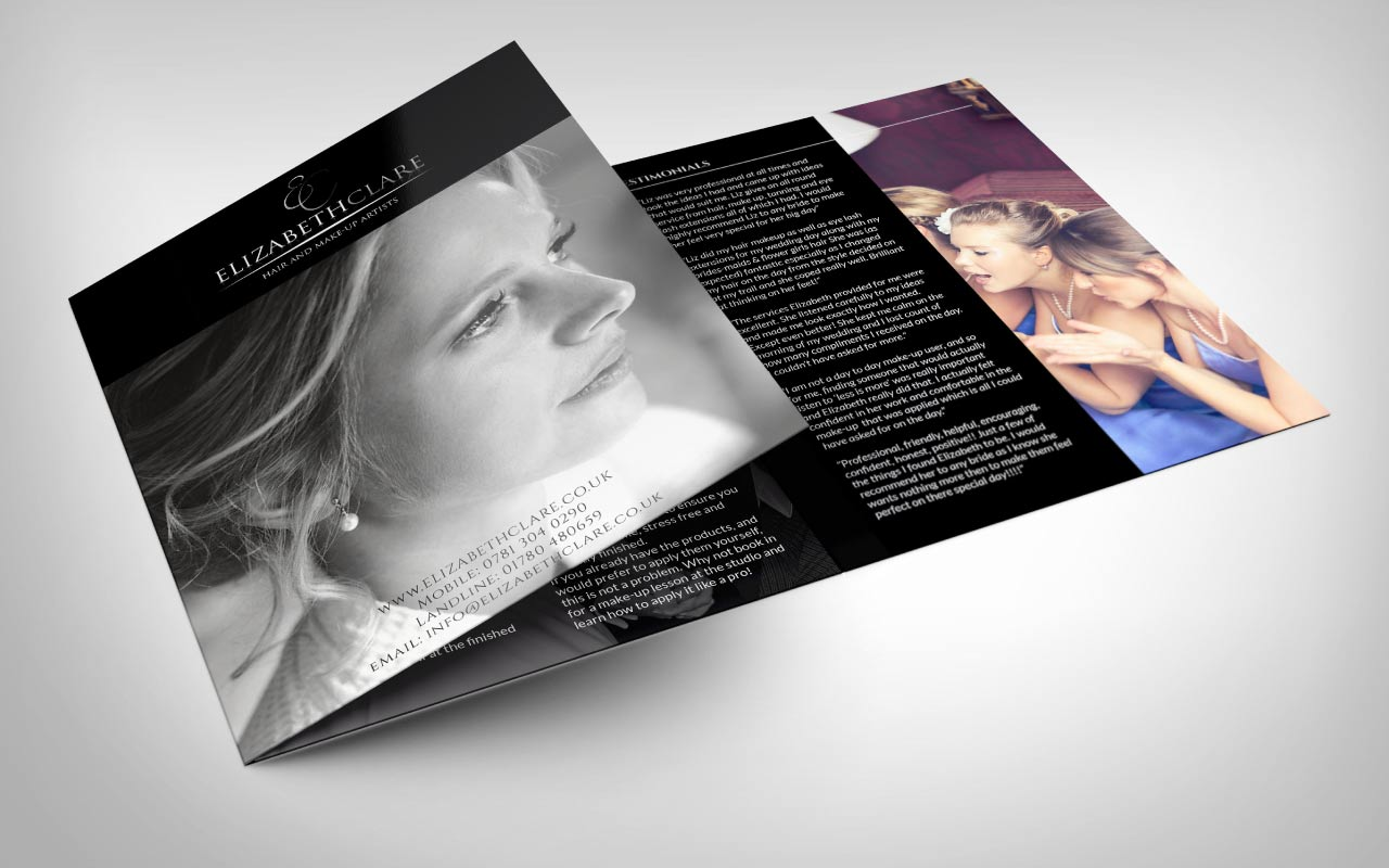 beauty leaflet design