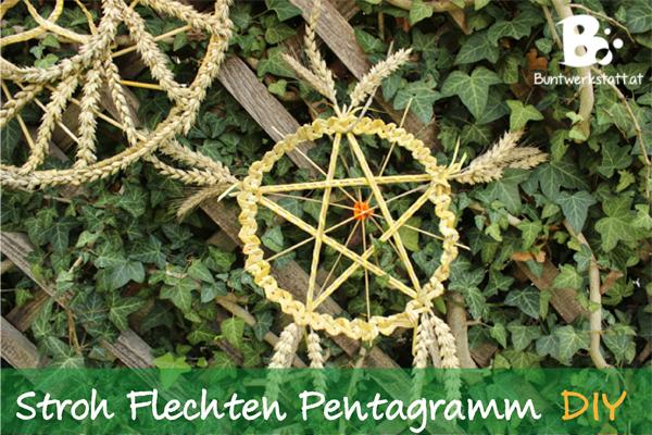 Stroh Flechten Pentagram