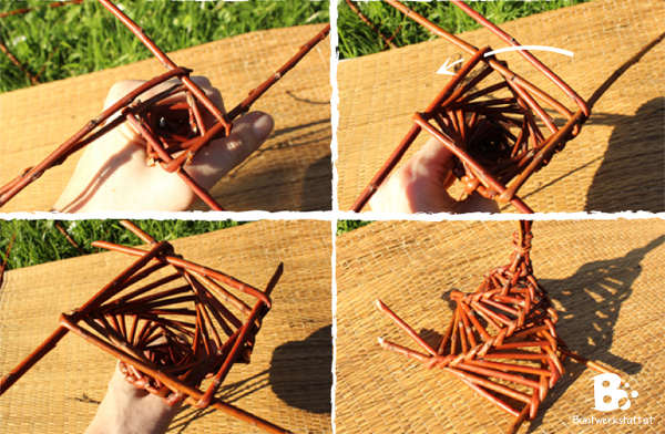 Willow Weaving - Bird Feeder