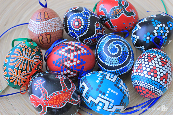 Painted Easter Eggs  colorful crafts