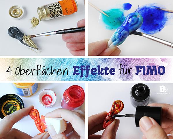 4 Oberflächen Effekte für Fimo
