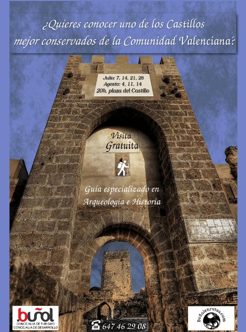 Visitas guiadas gratuitas al Castillo de Buñol