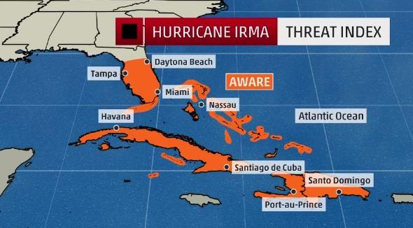 L'uragano Irma è arrivato ai Caraibi, primi allagamenti. Venti record