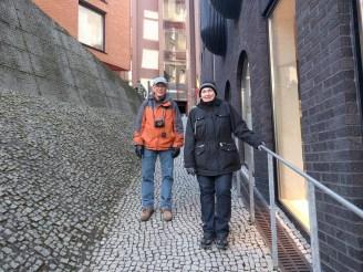 Parents in Rotermann Quarter exploring!