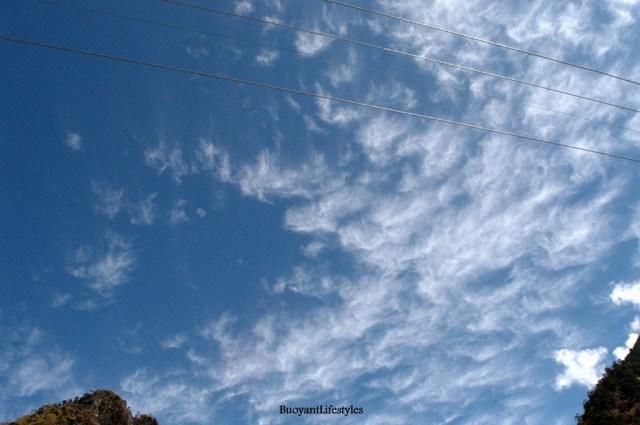 Clouds displaying their grandeur