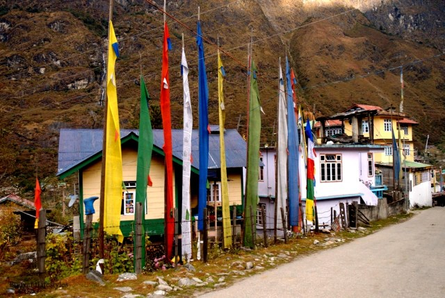 The village houses @Lachung