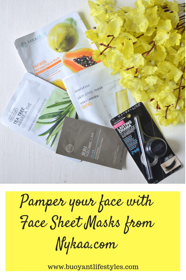 Pamper your face with Face Sheet Masks from Nykaa.com