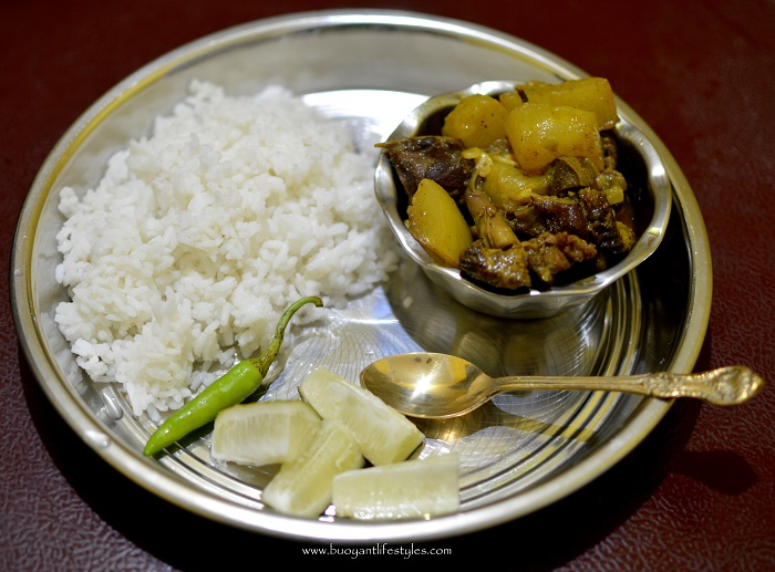 Duck meat cooked with Ash Gourd- Assamese Recipe