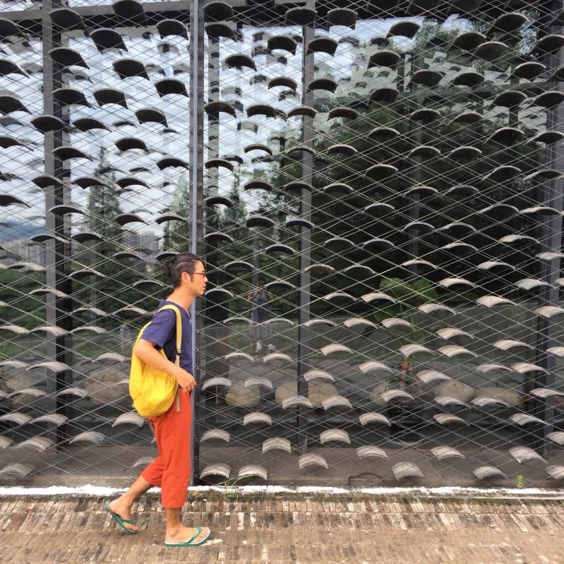 The facade of Kengo Kuma's Folk Art Museum