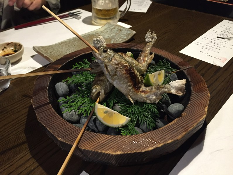 Yamame. A river fish found in Kyushu.