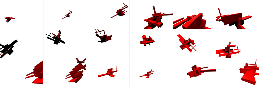Frames from the animation.