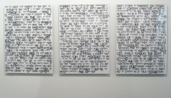 TERMS & CONDITIONS exhibition view, 2009, Miami