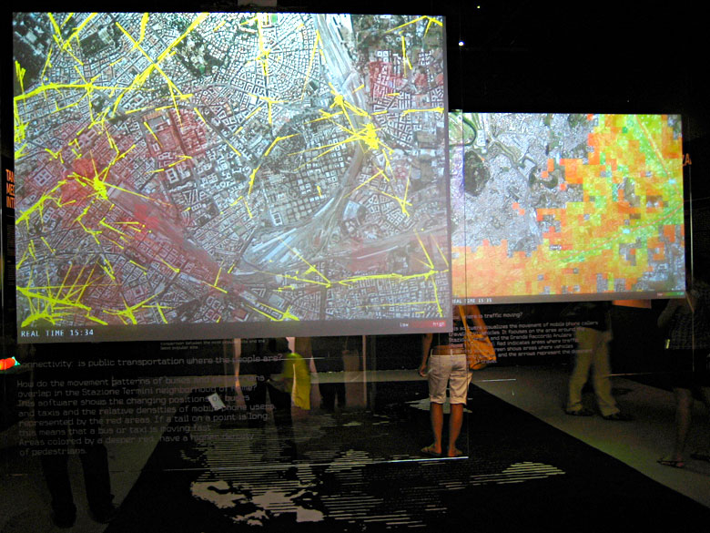 Exhibition view, Venice Architecture Biennale 2006 at the Italian Pavilion.