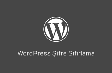 wordpress şifre sıfırlama