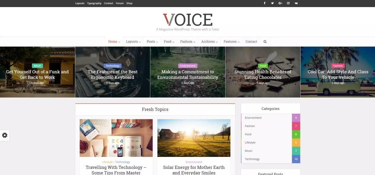 Voice Tema