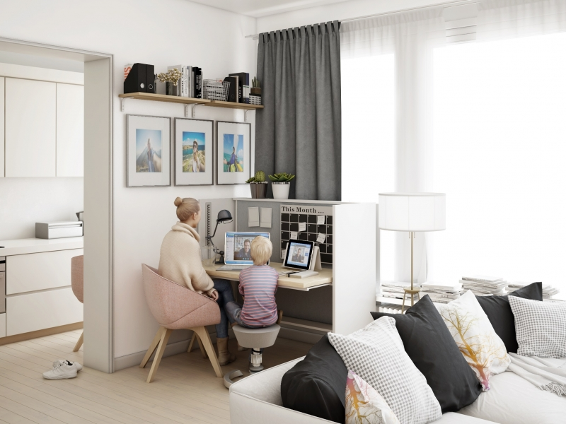Idées d aménagement de bureau partagé pour la maison home office