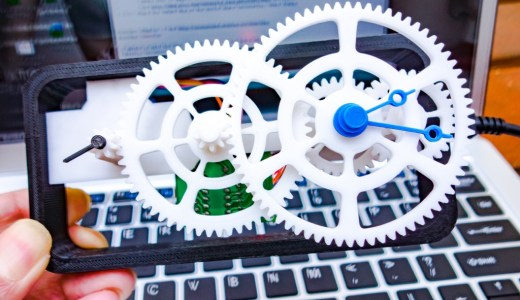 3Dプリンタでシンプルな歯車時計を作ってみた!【STLデータ公開】