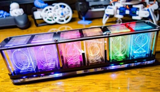 【電子工作】RGBフルカラー ニキシー管風時計キットを組み立てる。はんだの難易度が非常に高いキットでした!