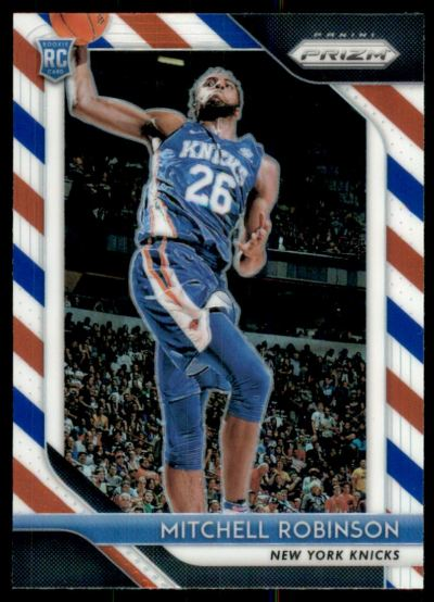 2018-19 Panini Prizm Prizms Red White and Blue #227 Mitchell Robinson RC