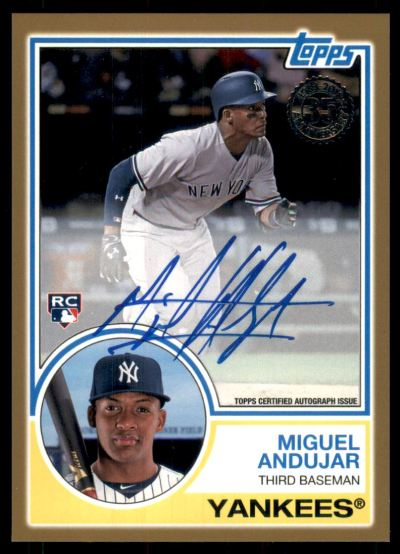 2018 Topps '83 Topps Autographs Gold #83A-MA Miguel Andujar RC Auto /50