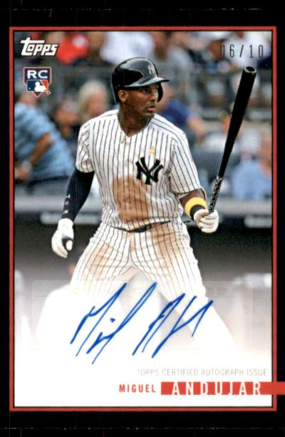 2018 Topps Now #41C-A Miguel Andujar RC Auto /10