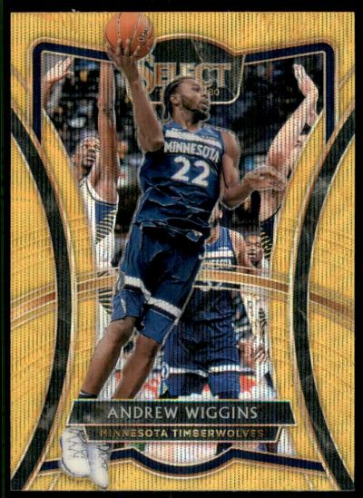 2019-20 Select Prizms Gold Wave #132 Andrew Wiggins